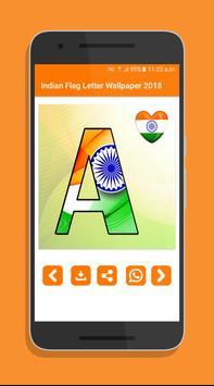 Indian Flag Letter Wallpaper 2018 screenshot 3