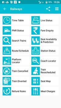 Indian Rail Train Time Table IRCTC PNR Live status screenshot 8