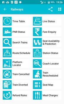 Indian Rail Train Time Table IRCTC PNR Live status poster