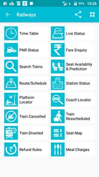 Indian Rail Train Time Table IRCTC PNR Live status apk screenshot