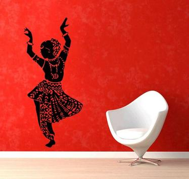 Indian Wall Painting poster