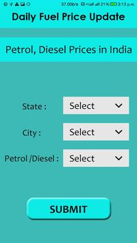 Daily Fuel Price Petrol, Diesel apk screenshot