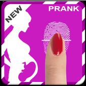 finger prengnancy test prank icon