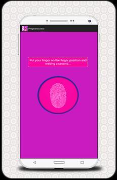 finger prengnancy test prank screenshot 2