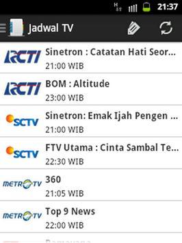 Jadwal TV & Event screenshot 1