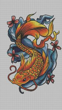 Tattoo Color By Number Draw Book Page Pixel Art screenshot 1
