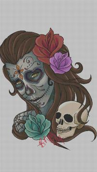 Tattoo Color By Number Draw Book Page Pixel Art screenshot 2