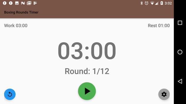 Free Boxing Rounds Timer apk screenshot