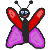 Flappy butterfly shooter icon