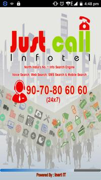 JustCall Infotel poster