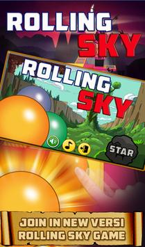 Rolling Run Ball Touch Sky poster