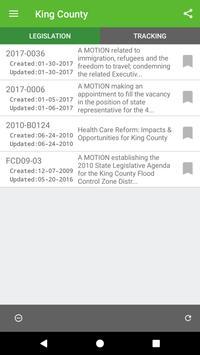 King County Legislation List screenshot 5