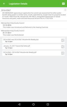 King County Legislation List screenshot 11