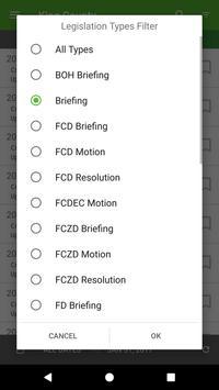 King County Legislation List screenshot 2