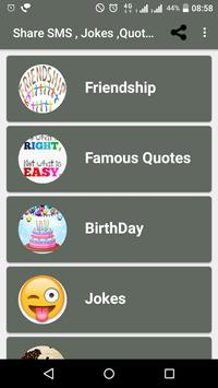 Share SMS (Quotes,Jokes,Greetings) poster