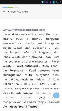Info Wisata Outbound screenshot 3