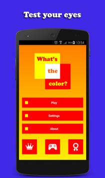 What's the color? poster