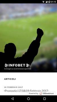 InfoBET - Pronostici sportivi poster
