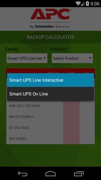 APC Backup Calculator apk screenshot