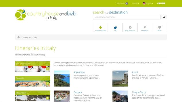 B&b and country house in Italy screenshot 1