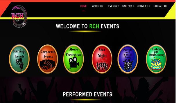 RCH Events apk screenshot