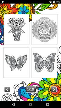 Coloring Book for Adults Anti-Stress poster