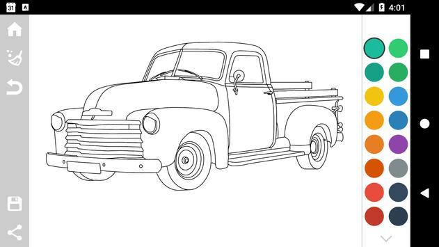 American Cars Coloring Book Screenshot 11