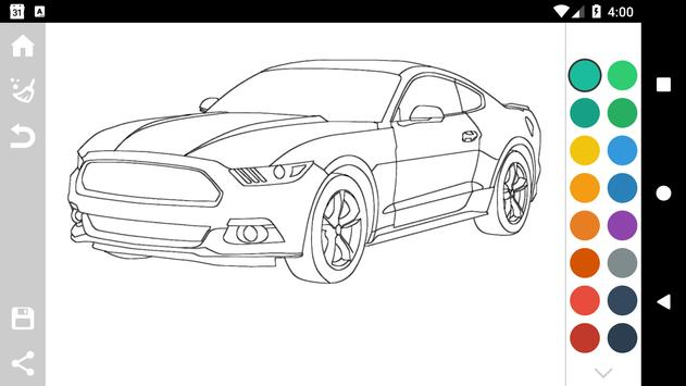 American Cars Coloring Book For Android