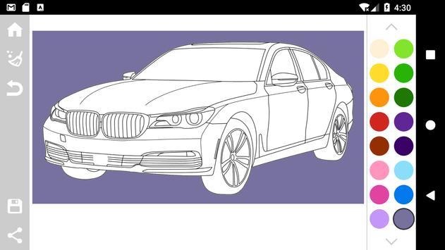 German Cars Coloring Book Poster Screenshot 1