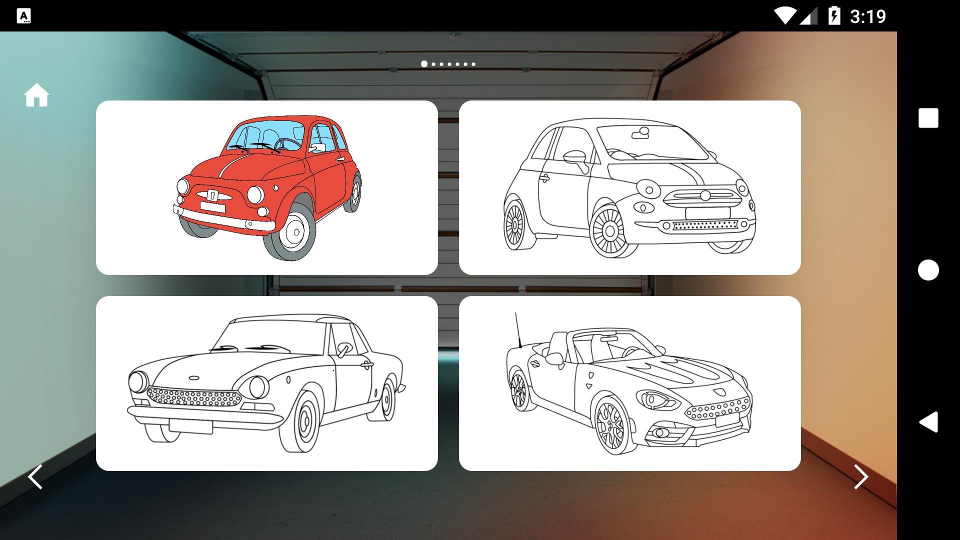 итальянские тачки раскраски для андроид скачать Apk
