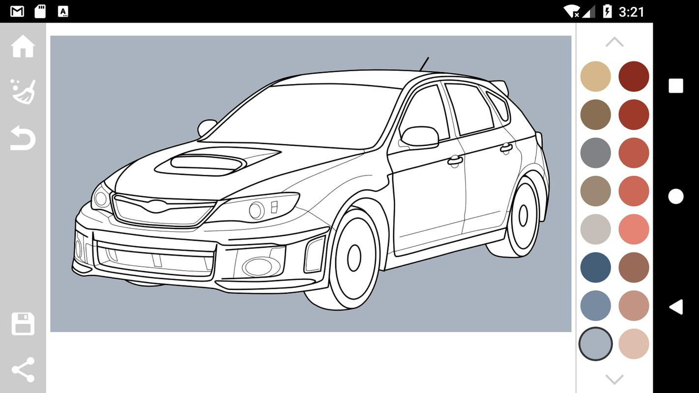 Japanese Cars Coloring Book For Android