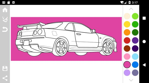 Japanese Cars Coloring Book Screenshot 6