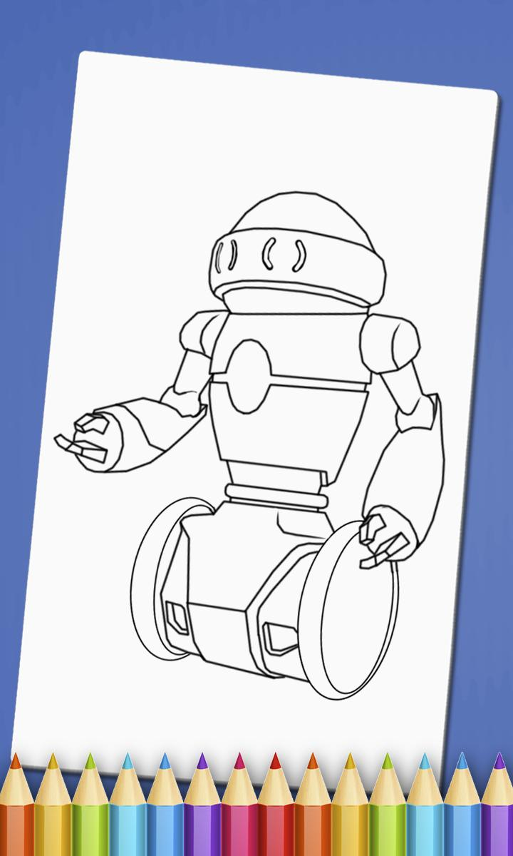 Smiling Robot coloring page | Free Printable Coloring Pages | 1200x720