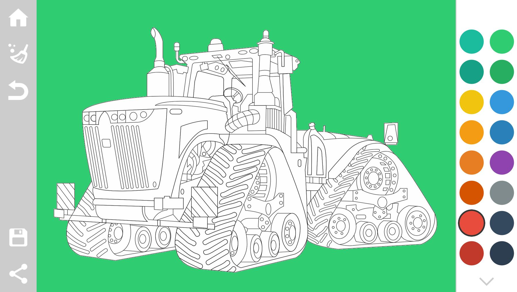 Top 25 Free Printable Tractor Coloring Pages Online | 1014x1794
