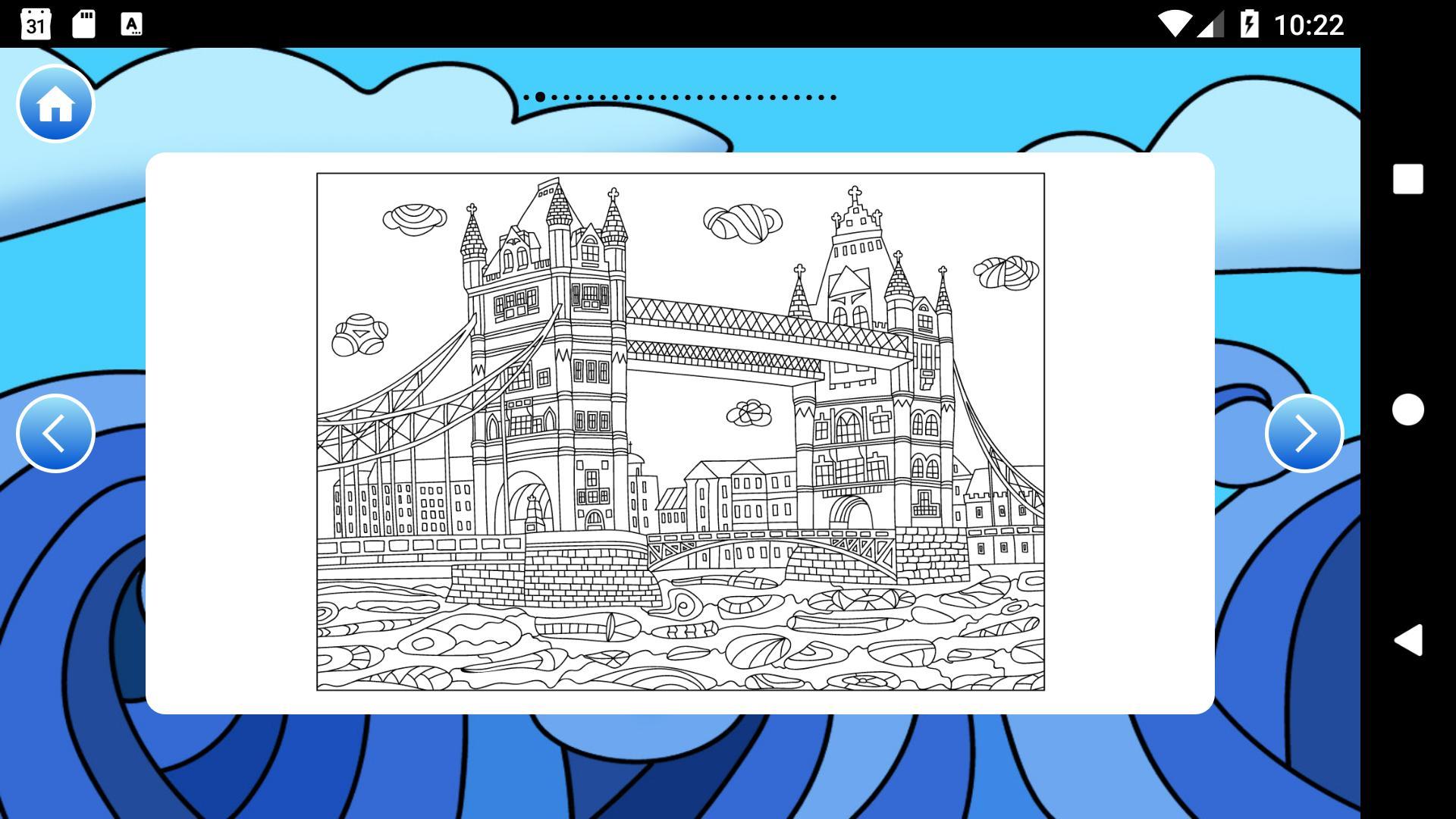 раскраска антистресс города путешествия для андроид