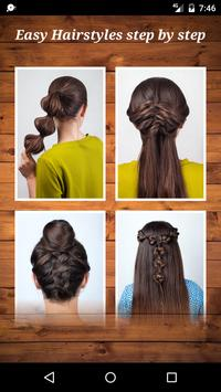 Easy Hairstyles step by step poster