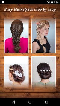 Easy Hairstyles step by step screenshot 1