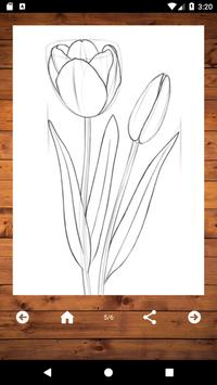 How To Draw Flowers screenshot 6