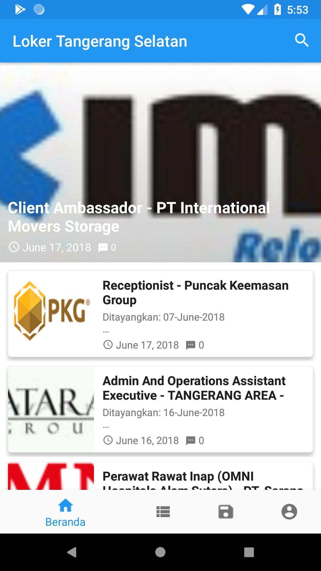 Loker Tangsel Lowongan Kerja Tangerang Selatan Para Android Apk Baixar