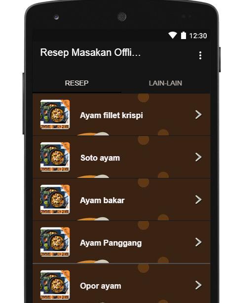 Resep Masakan Offline Mudah For Android Apk Download