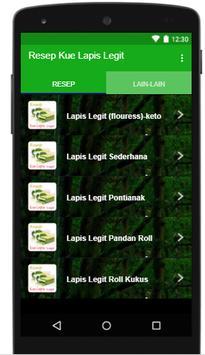 Resep Kue Lapis Legit screenshot 1