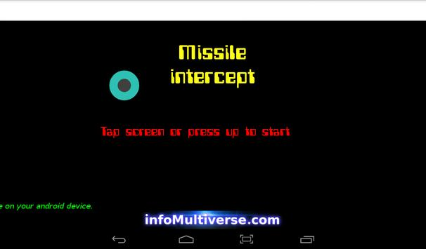 Missile Intercept for Android apk screenshot