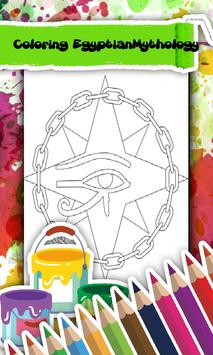 Pharaon Egypt Coloring Book poster