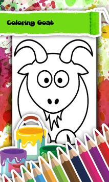 Goat Coloring Book poster