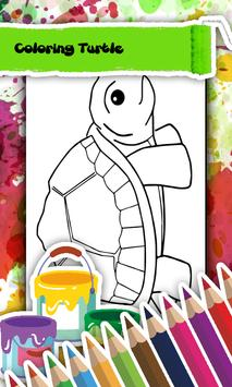 Turtle Coloring Book Poster