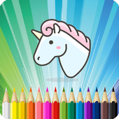 Unicorn Coloring Book icon