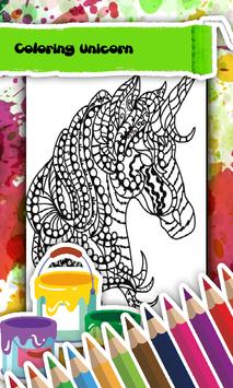 Unicorn Coloring Book screenshot 2