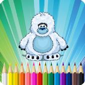 Yeti Coloring Book Big Foot