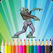 Zombie Coloring Book icono