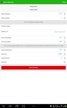 Infor Lawson Requisitions apk screenshot